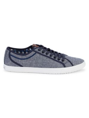 Ben Sherman Low-Top Lace-Up Sneakers In Navy