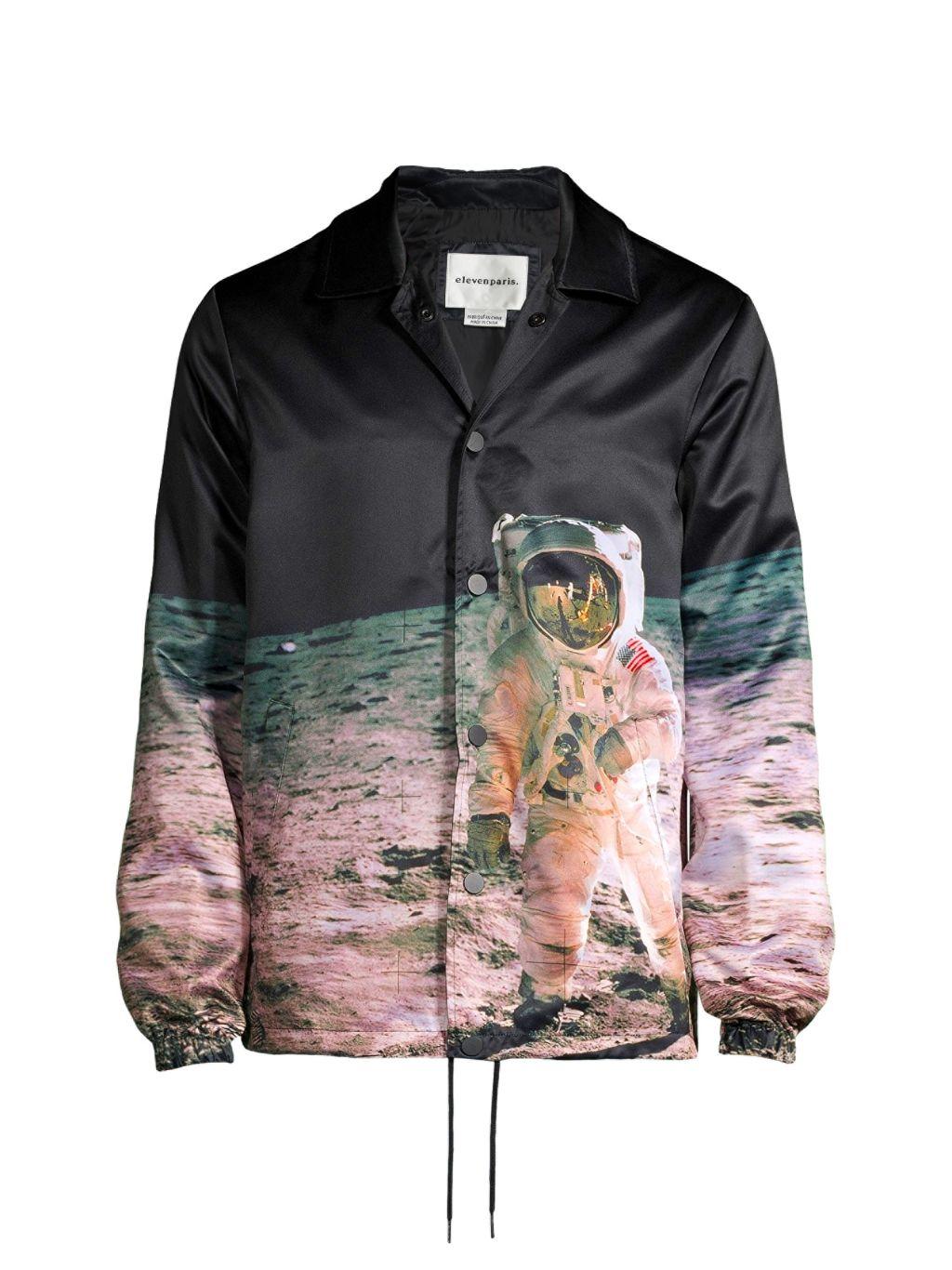 Eleven Paris Graphic Spread-Collar Shirt