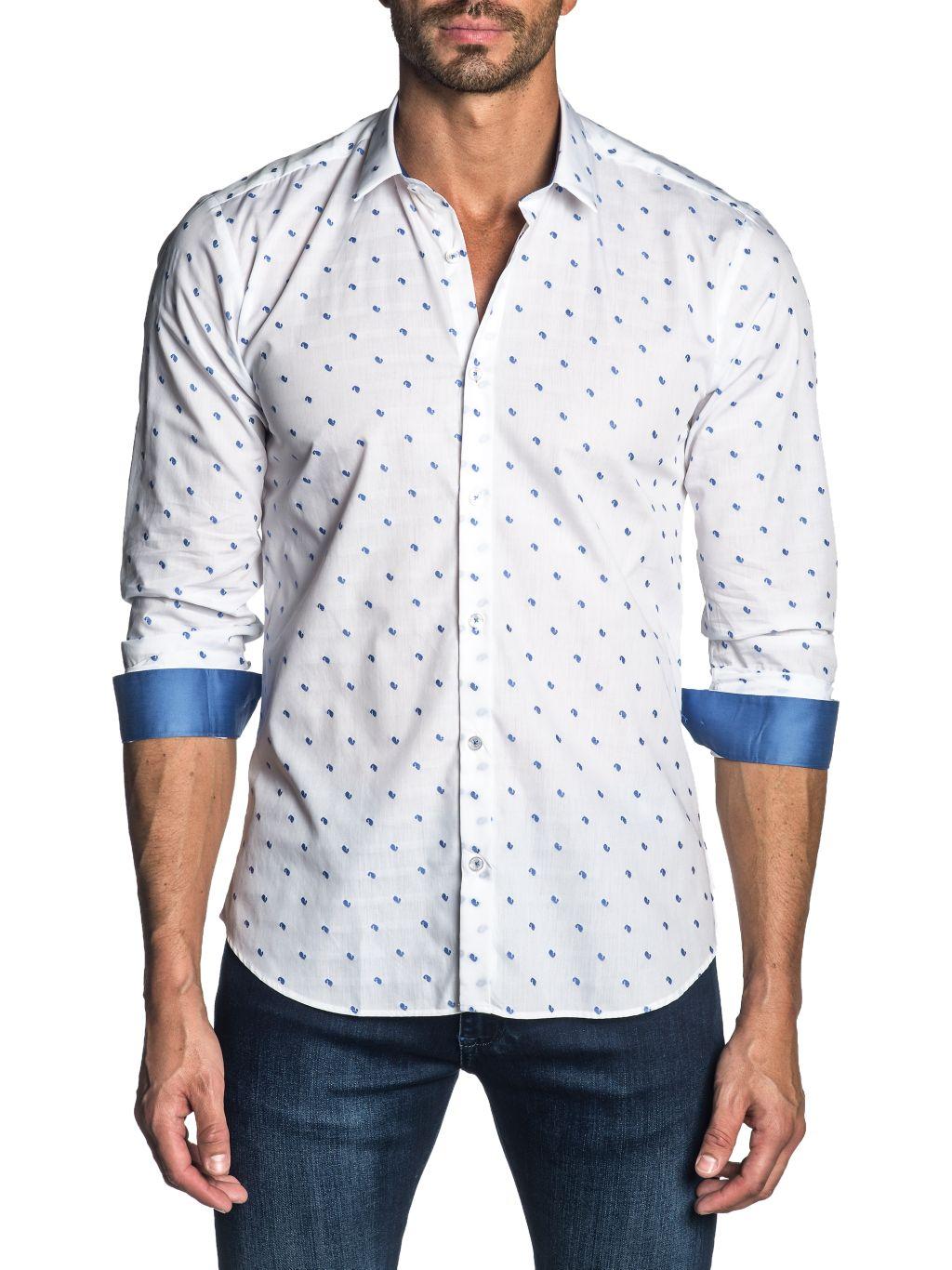 Jared Lang Semi-Fitted Printed Shirt