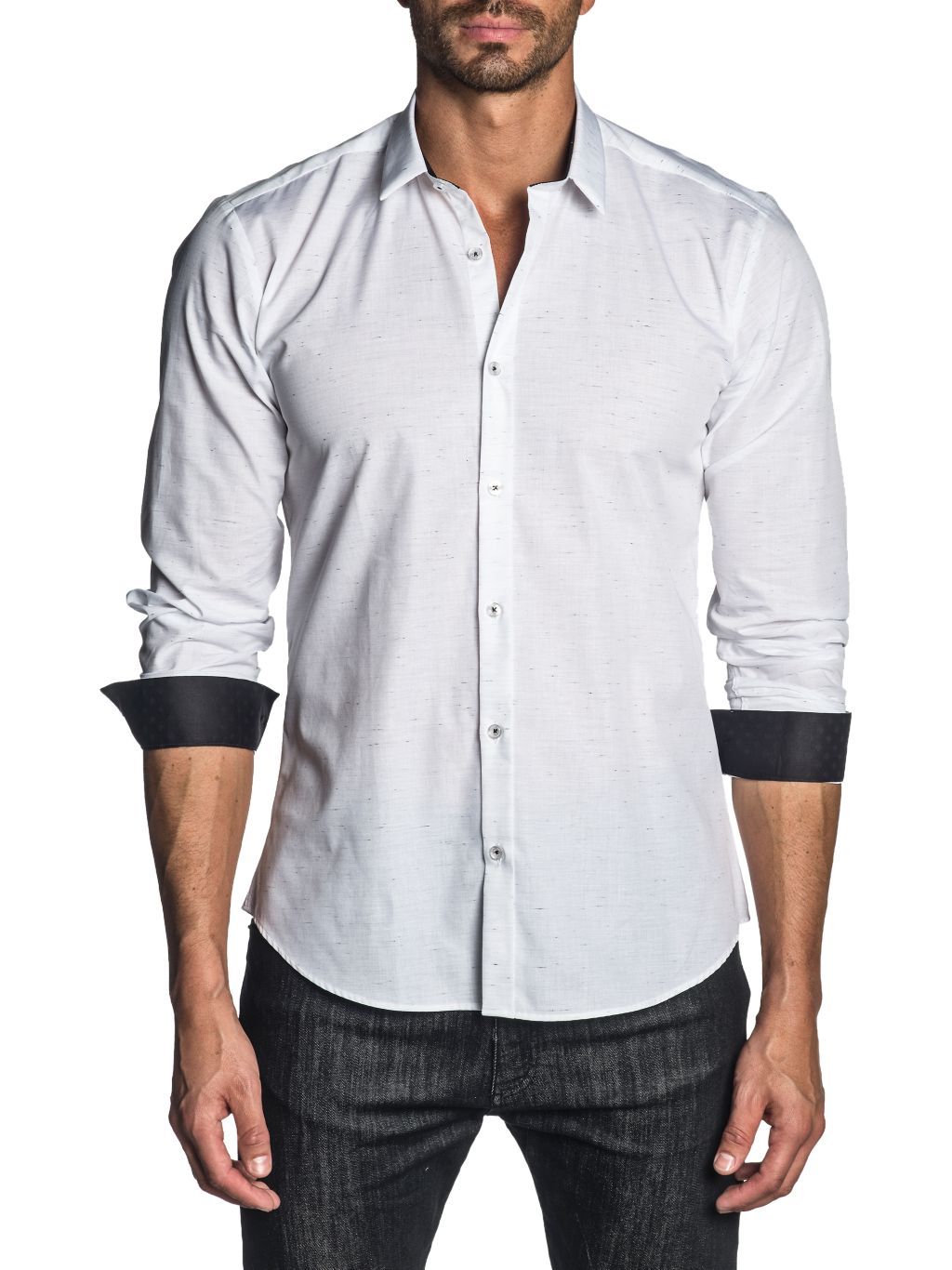Jared Lang Semi-Fitted Long-Sleeve Shirt