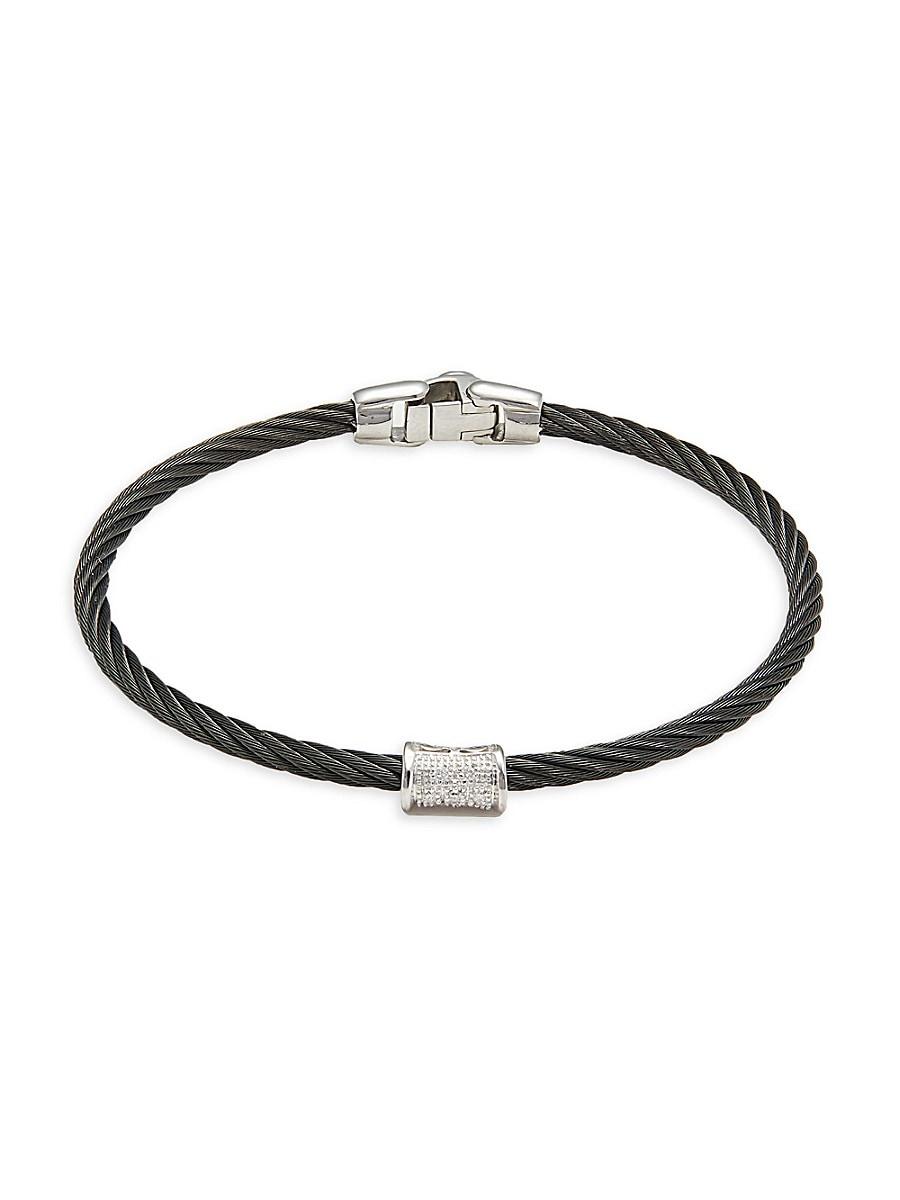 Women's Black Cable