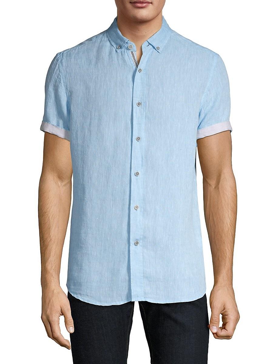 Men's Short-Sleeve Linen Shirt