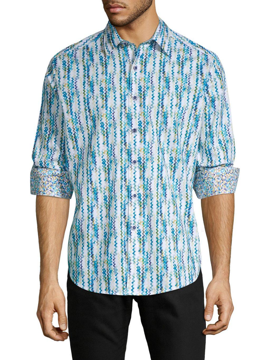 Robert Graham Classic-Fit Chevron Long Sleeve Shirt