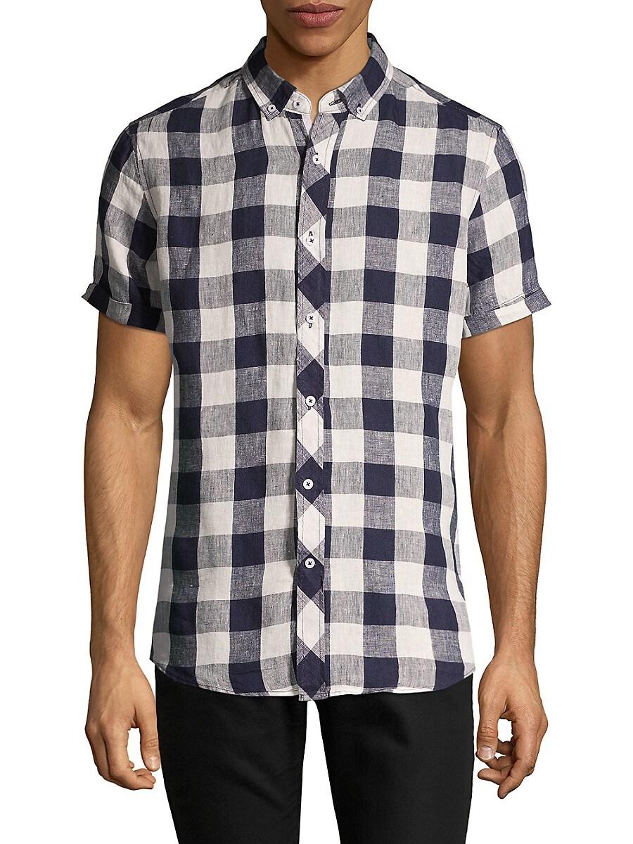 Men's Modern-Fit Linen Shirt