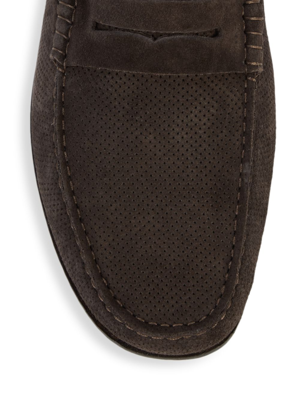 Canali Textured Suede Loafers
