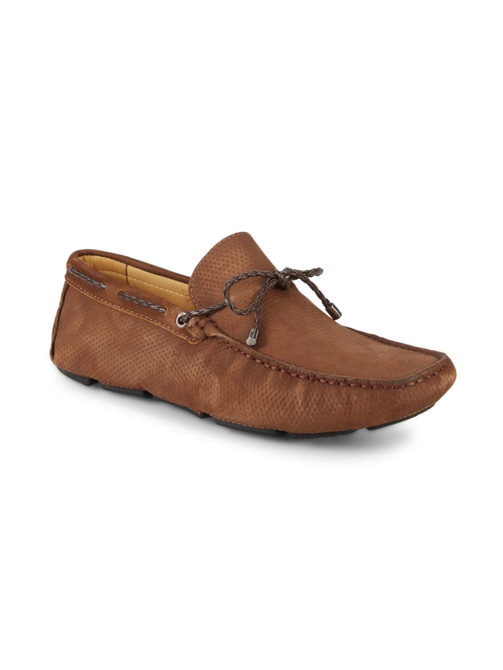 Saks Fifth Avenue Perforated Suede Driving Shoes
