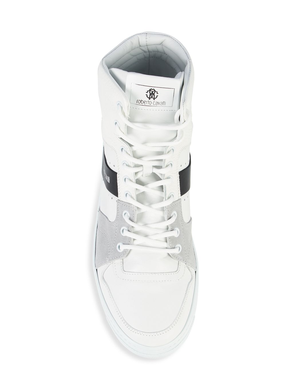 Roberto Cavalli High-Top Leather & Suede Sneakers