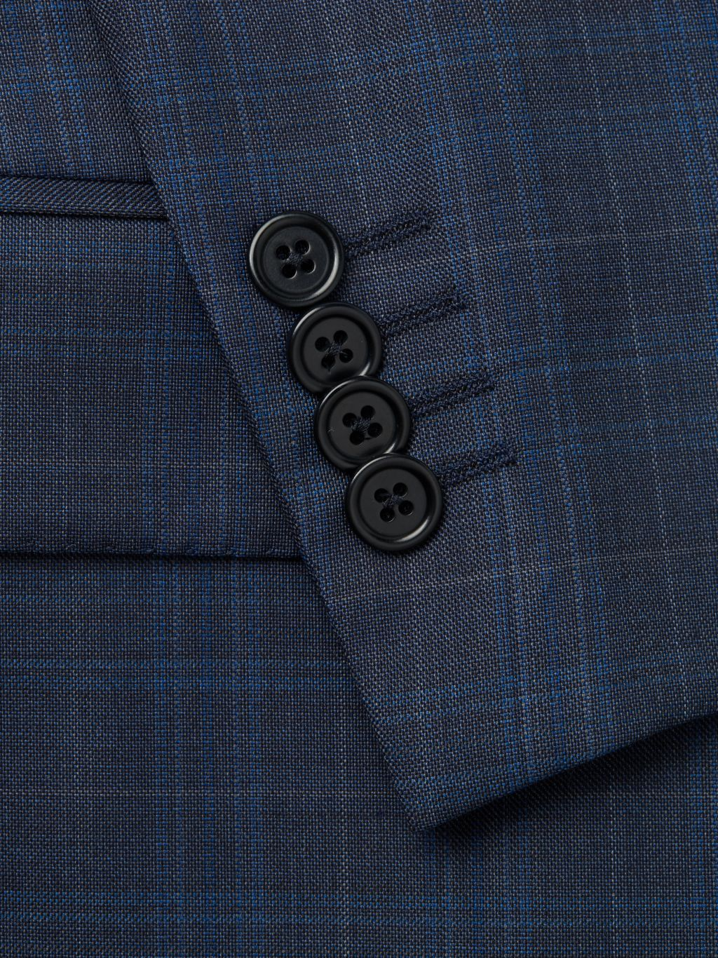 Saks Fifth Avenue Made in Italy Modern-Fit Plaid Wool Suit