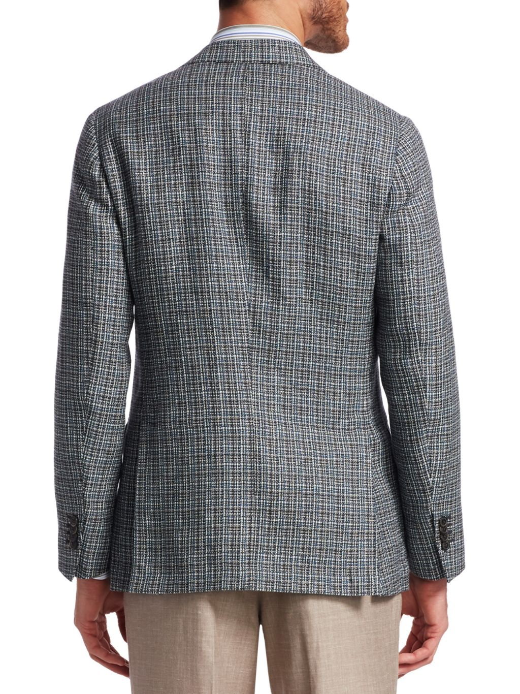 Saks Fifth Avenue COLLECTION Hopsack Cashmere & Virgin Wool Sportcoat