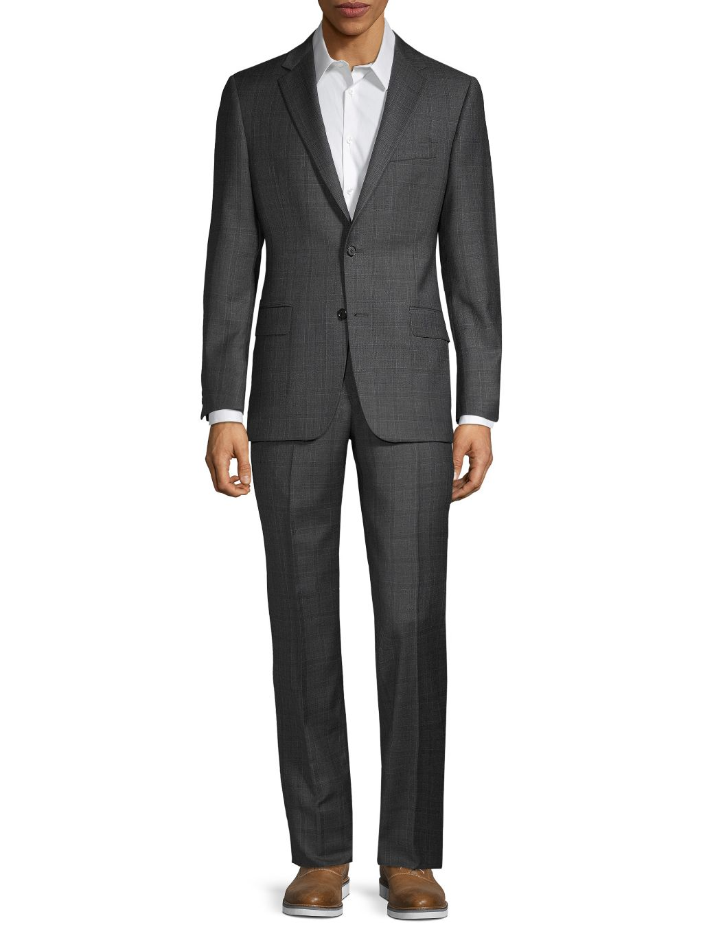 Hickey Freeman Classic-Fit Milburn IIM Series Plaid Wool Suit