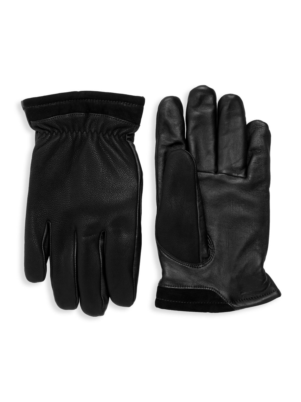 UGG Leather Faux Fur-Lined Tech Gloves