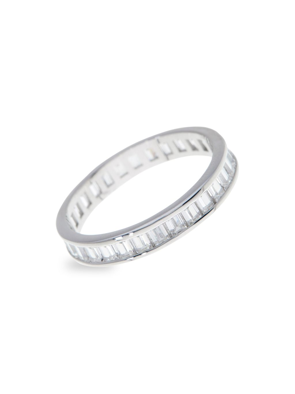 Sterling Forever Sterling Silver & Cubic Zirconia Stackable Ring