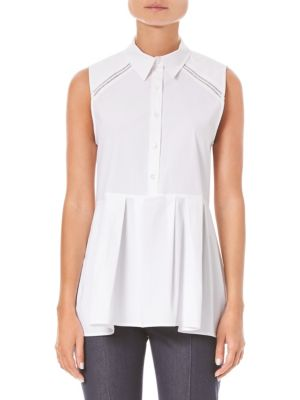 Carolina Herrera T-shirts Stretch Sleeveless Peplum Shirt