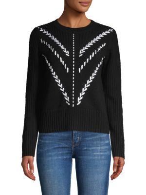 Carolina Herrera Sweaters Pointelle Cropped Cashmere Sweater
