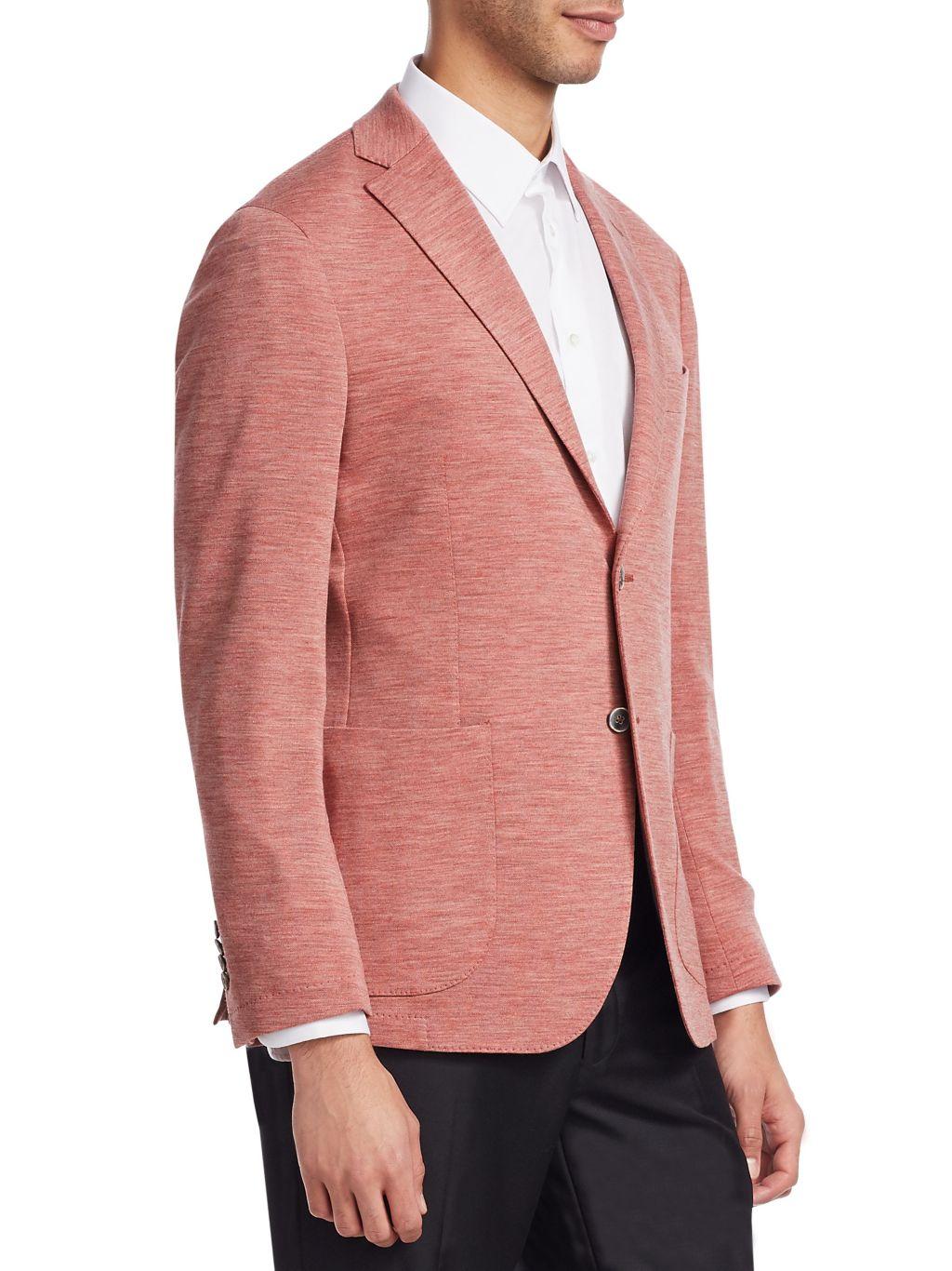Saks Fifth Avenue COLLECTION Melange Knit Blazer