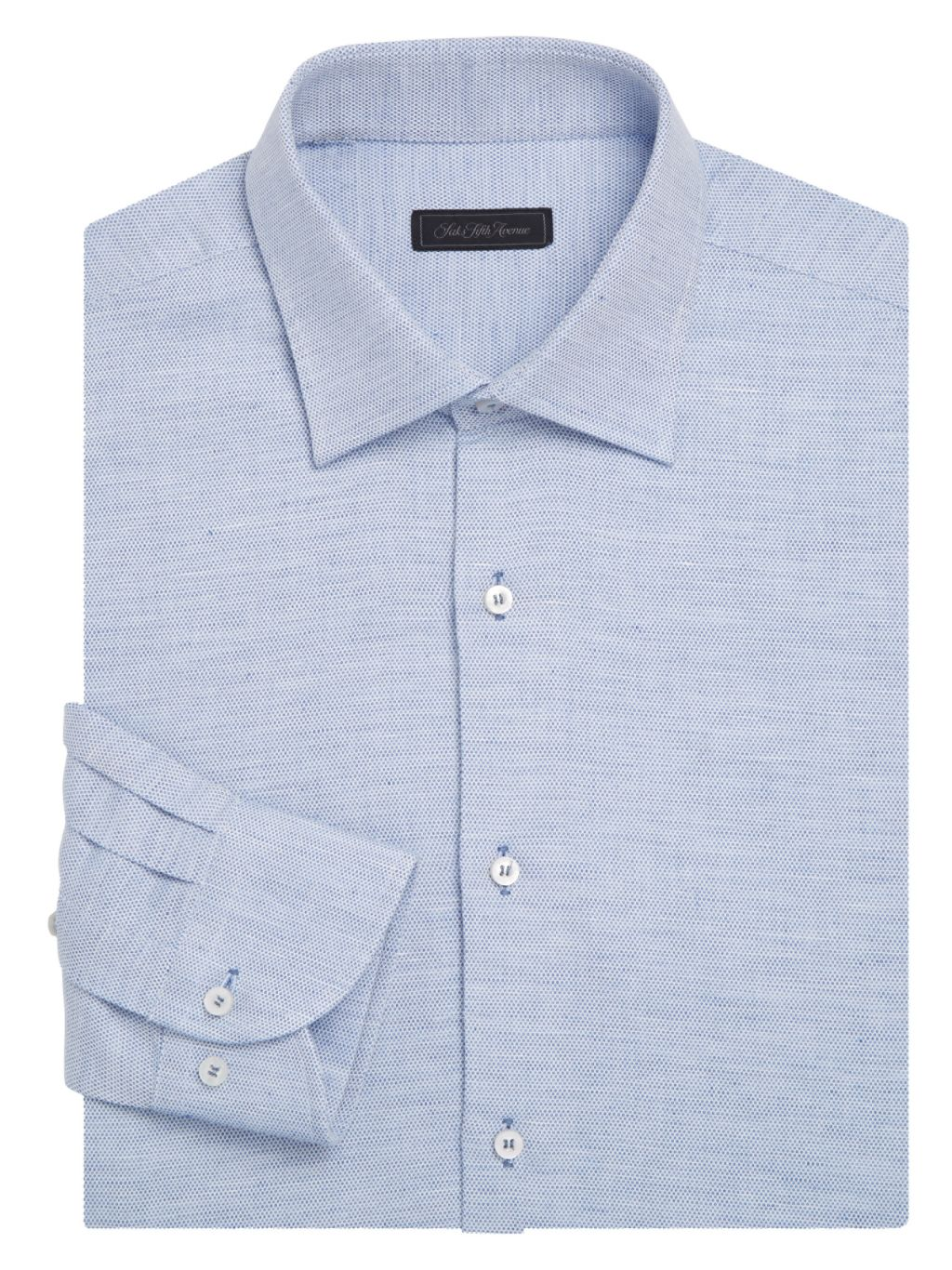 Saks Fifth Avenue COLLECTION Classic-Fit Textured Cotton Dobby Dress Shirt