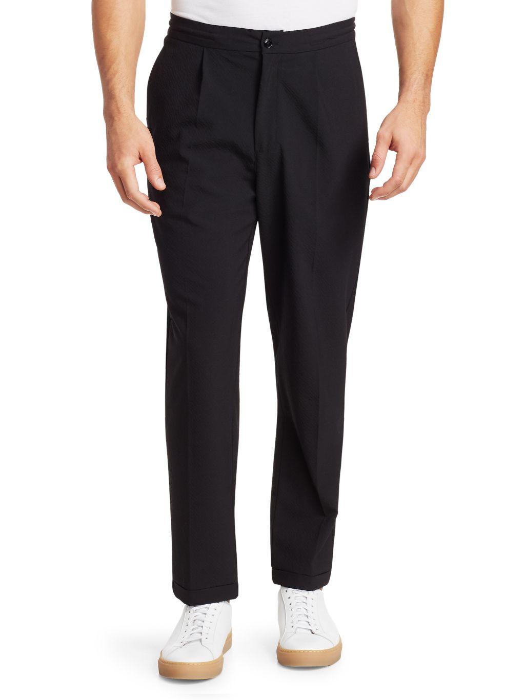 Saks Fifth Avenue MODERN Seersucker Trousers