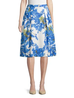 Carolina Herrera Skirts Floral Cotton-Blend Skirt