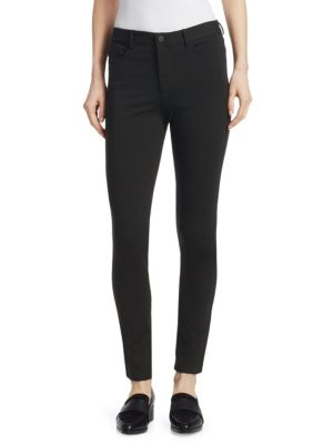 Theory Five-pocket Skinny Jeans In Black