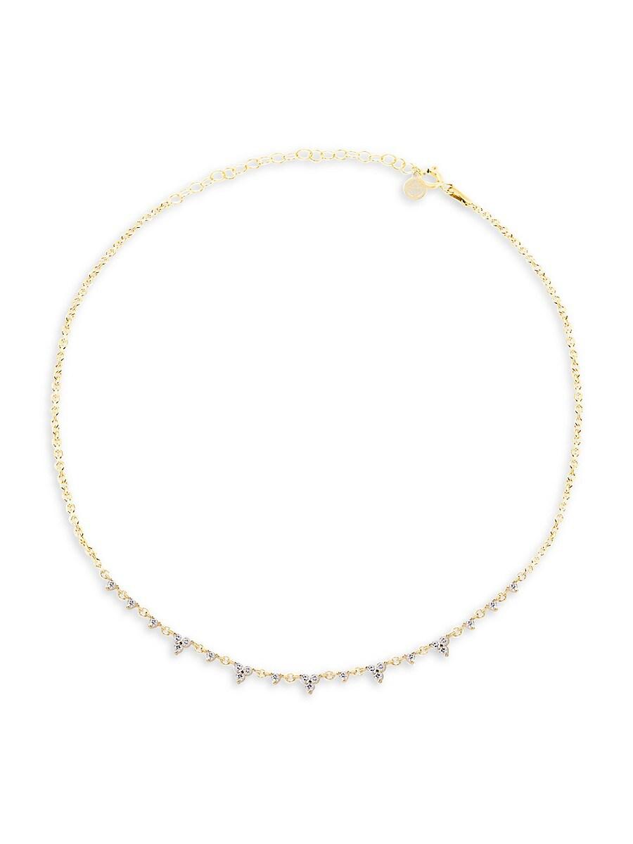 Women's 22K Gold Vermeil & Cubic Zirconia Necklace