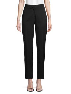 Carolina Herrera Pants Flat-Front Wool-Blend Pants
