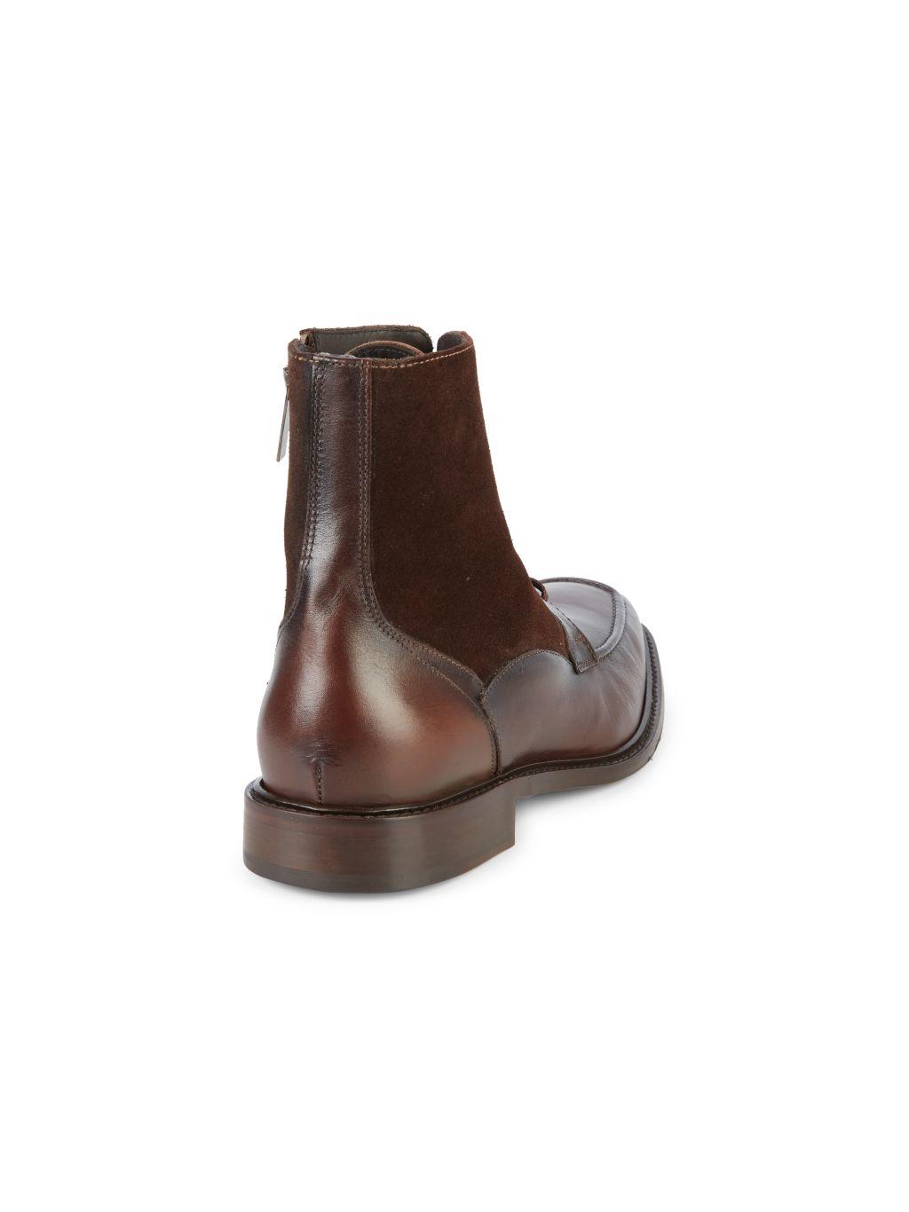 Bruno Magli Cardone Leather & Suede Boots