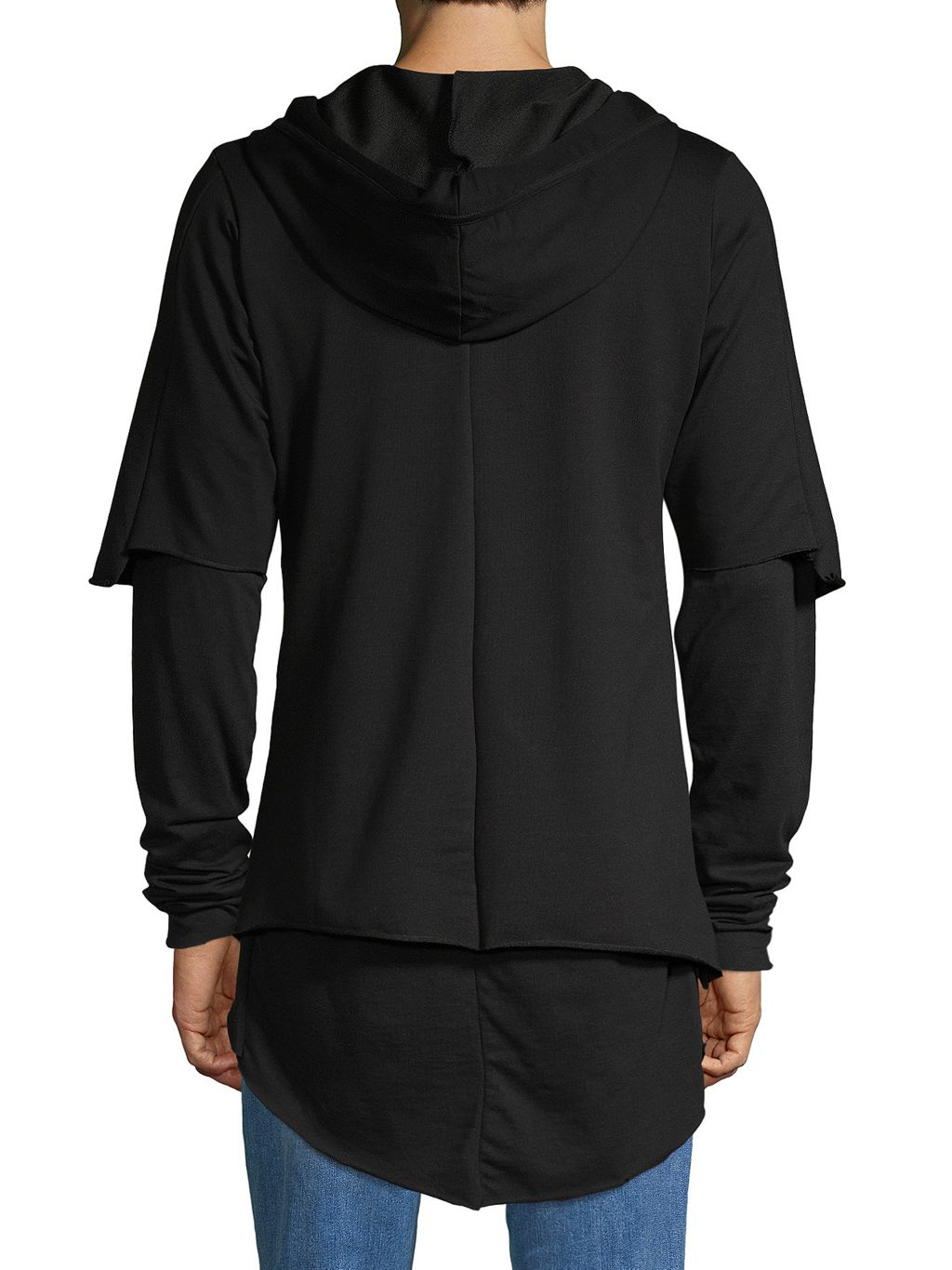 RON TOMSON High-Low Cotton-Blend Hoodie