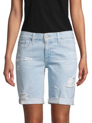 Ag Shorts Distressed Denim Shorts