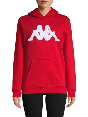 Kappa Tops Logo Cotton-Blend Hoodie