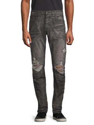 Prps Jeans Slim Tapered-Fit Distressed Dark Jeans