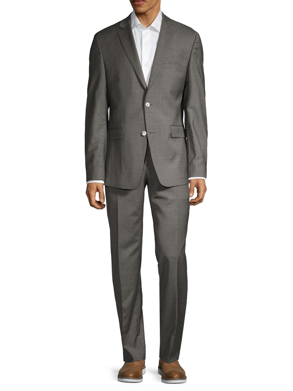 Versace Collection Modern-Fit Solid Stretch-Wool Suit