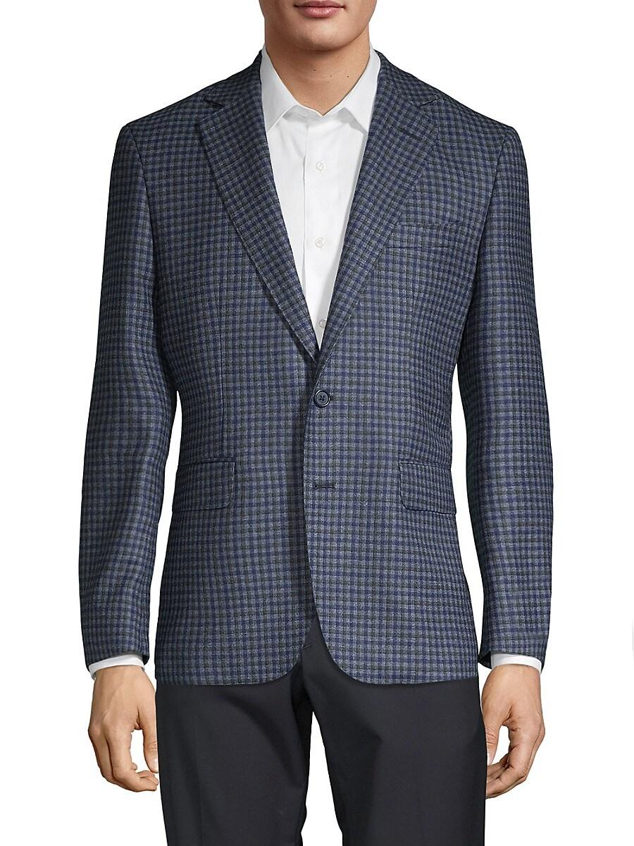 Men's Mini Check Virgin Wool Sportcoat