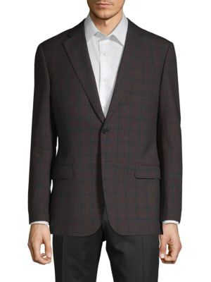 Armani Collezioni Jackets G-Line Fit Check Virgin Wool Jacket