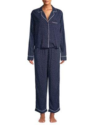 Rails Pants Two-Piece Mini Heart Pajama Top and Pants Set