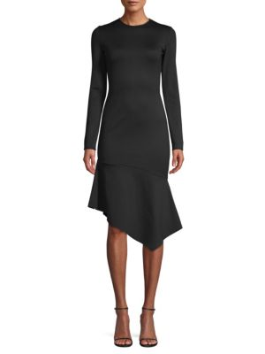 Black Halo Dresses Maddox Asymmetric Sheath Dress