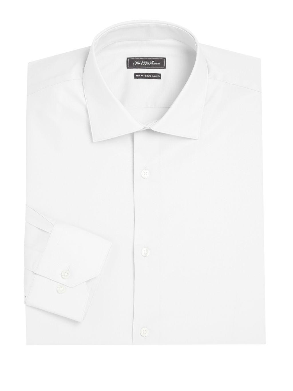 Saks Fifth Avenue COLLECTION Trim-Fit Cotton Dress Shirt