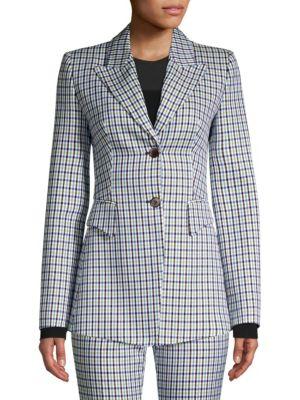 Michael Kors Blazers Wool-Blend Plaid Blazer