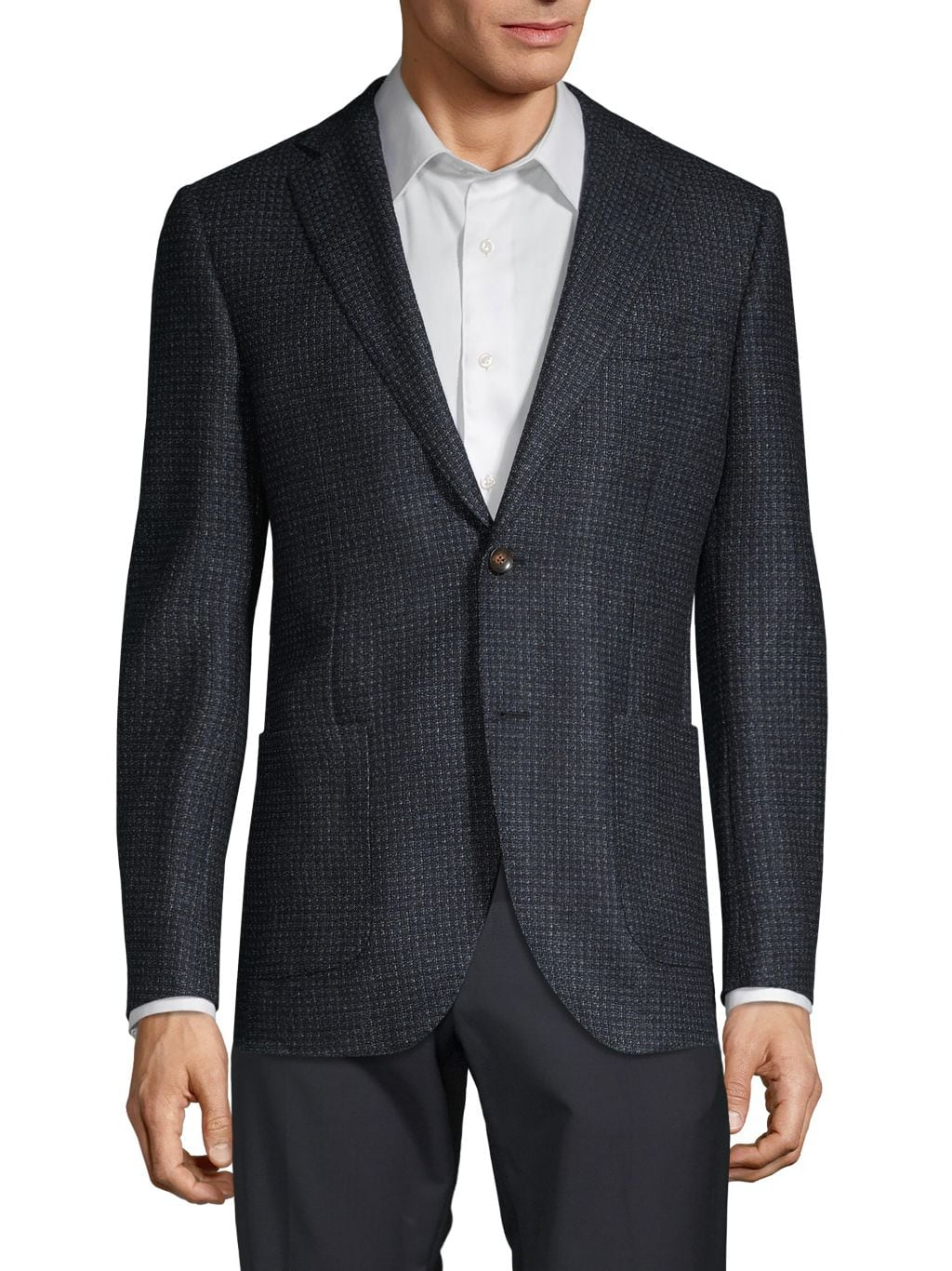 Lubiam Vest-Lined Textured Sportcoat