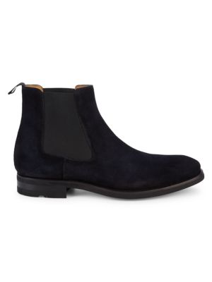Magnanni Suede Chelsea Boots In Navy