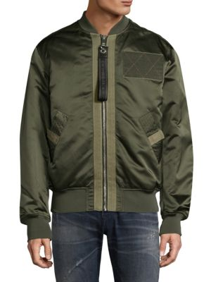 Diesel West Laceup Utility Flight Jacket In Forest Night
