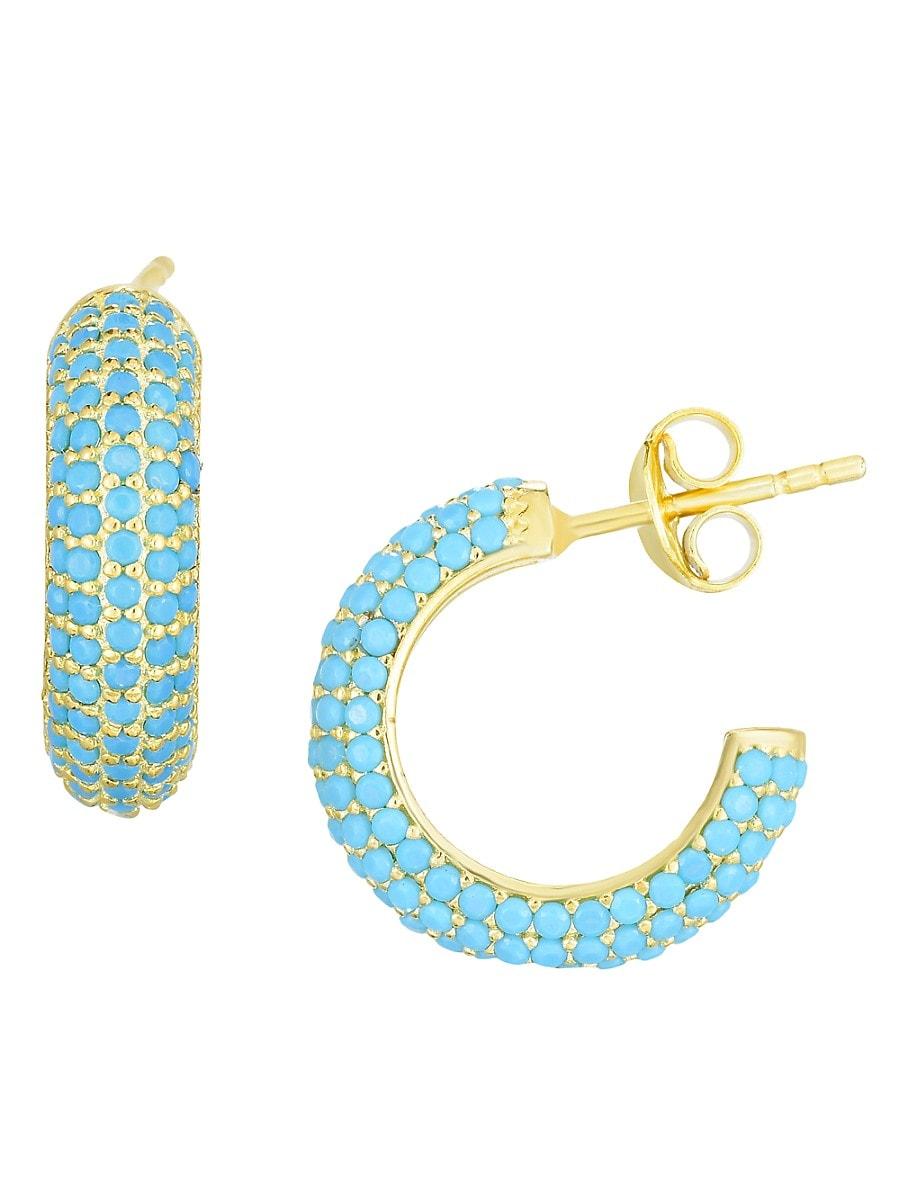 Women's Turquoise C-Hoop Earrings