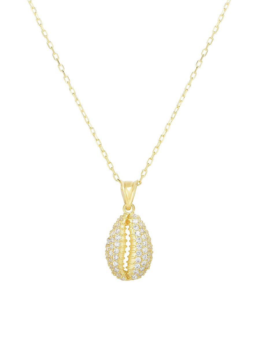 Women's Crystal Puka Shell Pendant Necklace