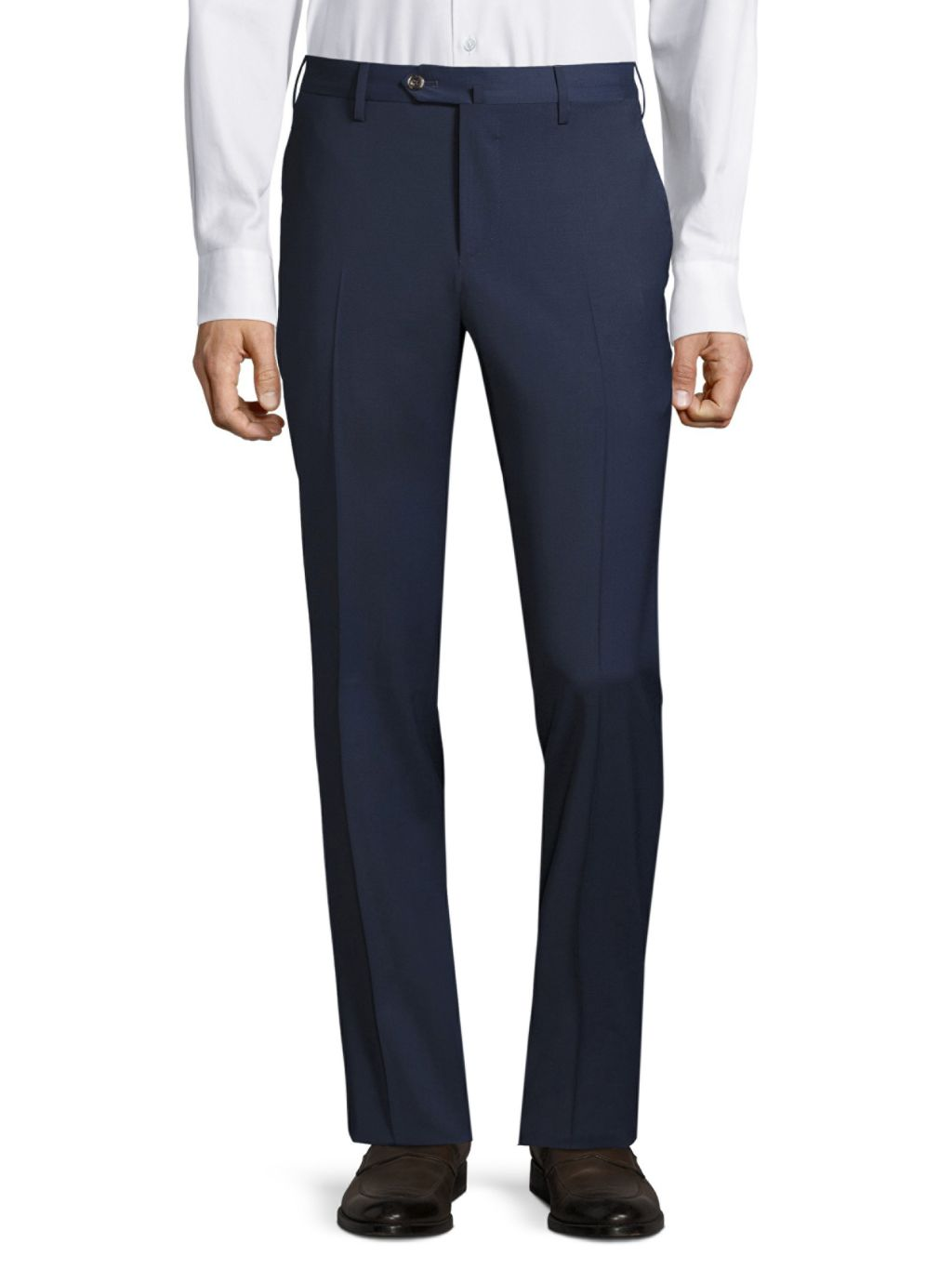 PT01 Traveler Flat-Front Techno Wool Trousers