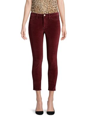 Frame Jeans Le Velveteen Skinny Jeans