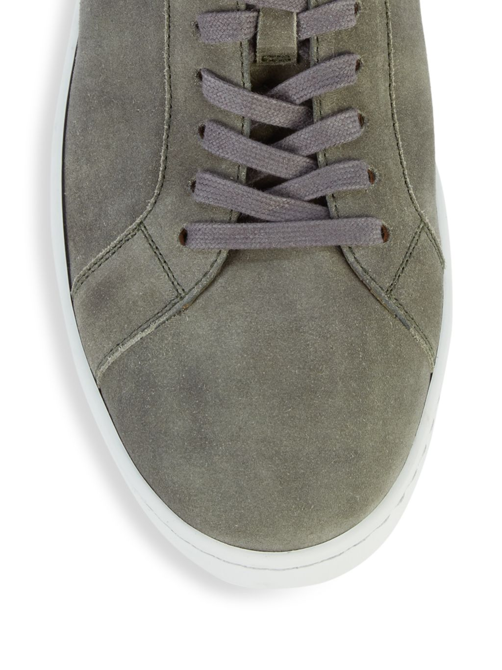 Magnanni High-Top Suede Sneakers