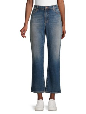 Eileen Fisher Jeans High-Waist Bootcut Ankle Jeans