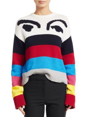 Derek Lam Sweaters Multicolor Stripe Graphic Sweater