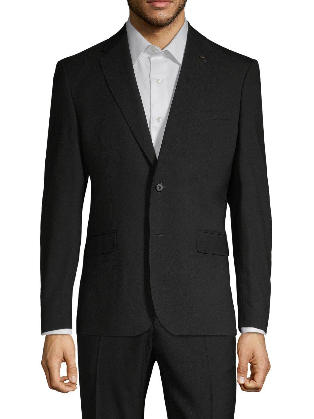 NHP Solid Notch-Lapel Sportcoat