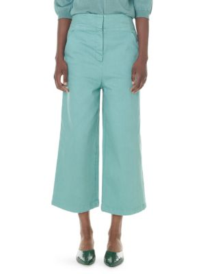 Tibi Jeans Garment Dyed Demi-Crop Jeans