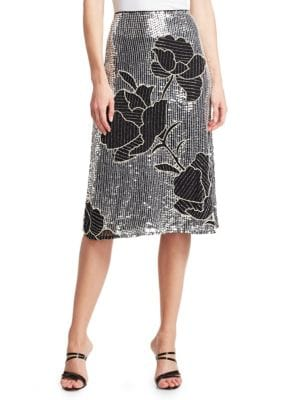 Dodo Bar Or Skirts Gladys Sequined Floral Skirt